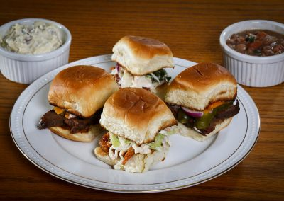 Pulled Pork and Beef Brisket Sliders